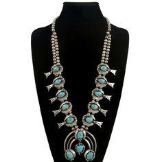 Collectible Squash Blossom Necklace Vintage