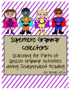 Have too much to teach and not enough time in the day?  Teach students the 8 parts of speech during independent reading with these printable bookmarks and graphic organizers!