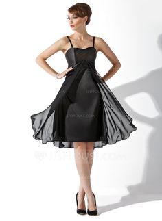 Bridesmaid Dresses - $96.99 - Empire Sweetheart Knee-Length Chiffon Charmeuse Bridesmaid Dress With Ruffle (007000808) http://jjshouse.com/Empire-Sweetheart-Knee-Length-Chiffon-Charmeuse-Bridesmaid-Dress-With-Ruffle-007000808-g808?ver=xdegc7h0