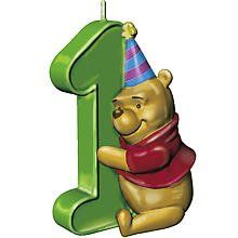 Amazon.com: 1FVT5000 POOH 1ST CANDLE [Toy]: Toys & Games