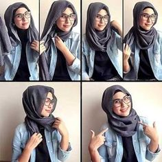 hijab styles for round face - Google Search