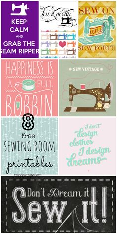 8 Free Sewing Room Printables for Wall Decor - Swoodson Says
