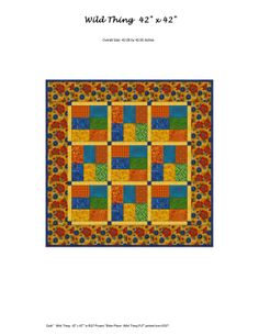 Wild Thing quilt pattern by Mary Ann Altendorf