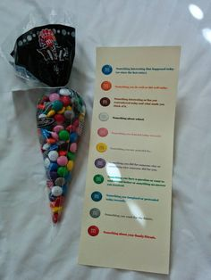 Activity Days: Journal Writing With M&Ms