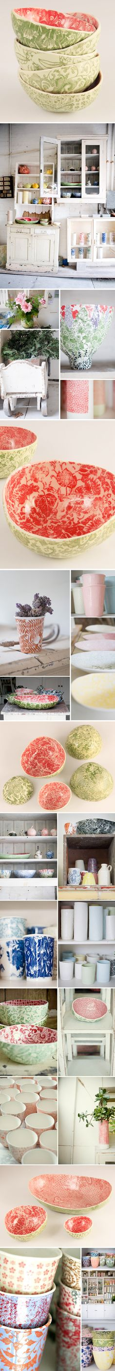 samantha robinson ~ porcelain creations AND her gorgeous studio! <3