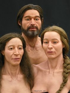 Lichtenstein Cave Museum - facial reconstruction of Bronze Age family with father