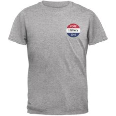 Election 2016 - Vote Team Hillary Clinton Heather Grey Adult T-Shirt