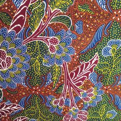 The illustration of Tiga Negeri Batik Batik Art, Batik Prints, Textile Prints, Textiles, Bali Garden, Tropical Fashion, Batik Pattern, Ethnic Patterns, Bird Drawings