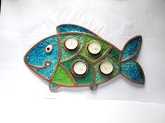 Adventní svícen - Kapřík Pottery Tools, Pottery Classes, Slab Pottery, Ceramic Pottery, Clay Fish, Ceramic Fish, Ceramic Clay, Pottery Animals, Fish Patterns