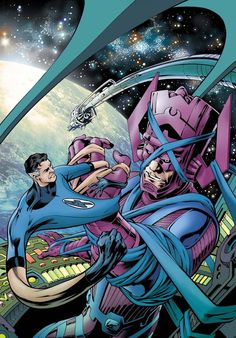 Fantastic Four Vol. 3 # 586 by Alan Davis & Mark Farmer Marvel Comic Character, Comic Book Characters, Marvel Characters, Comic Books Art, Book Art, Marvel Villains, Marvel Comics Art, Marvel Vs, Marvel Heroes