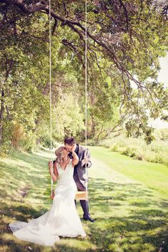 Lovely swing picture, now I need to find a swing so I can take my next bride there to take pictures