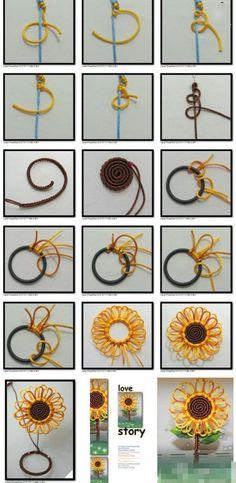 Sunflower Chinese Knot Tutorial.