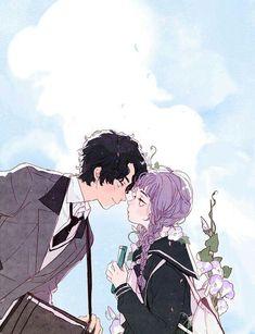 Anime couple art shared by ❍ℓїʋเα ♡ on we heart it Aesthetic Art, Aesthetic Anime, Character Illustration, Illustration Art, Couple Illustration, Arte Peculiar, Character Art, Character Design, Arte Sketchbook