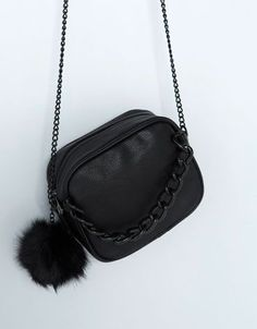 Bershka bag with chain and pompom