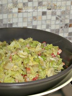 Savoy cabbage stewed with bacon recipe Bacon Recipes, Vegetable Recipes, Cooking Recipes, Healthy Recipes, Vegetable Salad, Vegetable Side Dishes, Cabbage Stew, Savoy Cabbage, Cooking For Dummies