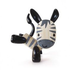 Zebra loves to play hide and seek! Bamboo and eco-friendly animal toys. Fully posable with movable body feartures - legs, tail, ears and nose. Perfect travel size for backpack or purse toy! Makes a great desk pal for the office, too. Art Nouveau, Hape Toys, Toddler Boy Gifts, Green Toys, Eco Friendly Toys, Building For Kids, Wood Toys, Art Plastique, Toy Store