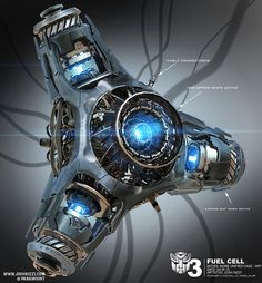 Concept art by Josh Nizzi - Fuel Cell for Transformers 3