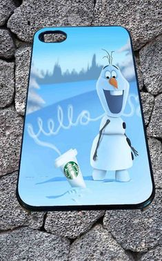 Hello olaf Starbucks for iPhone 4/4s/5/5S/5C/6, Samsung S3/S4/S5 Unique Case *99* - PHONECASELOVE