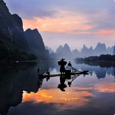 Fisherman in Yangsguo, China