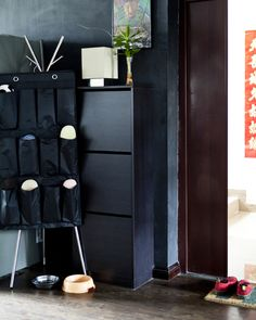 Using extra storage solutions the hallway helps to free up space elsewhere
