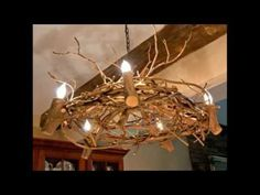 Shrub Chandelier - Examples of Home Decorations and Interesting Design Ideas .- Çalı Avize – Ev Dekorasyon Örnekleri ve İlginç Tasarım Fikirleri Example of decoration design of chandelier with bushes for chalet - Driftwood Chandelier, Branch Chandelier, Rustic Chandelier, Rustic Lighting, Chandeliers, How To Make A Chandelier, Driftwood Furniture, Rustic Crafts, Diy Network