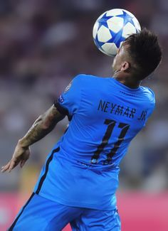 Neymar in action during the UEFA Champions League Group E match between AS Roma and FC Barcelona, at Olimpico Stadium on September 16, 2015 in Rome, Italy.