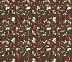 library fabric, wallpaper & gift wrap - Spoonflower