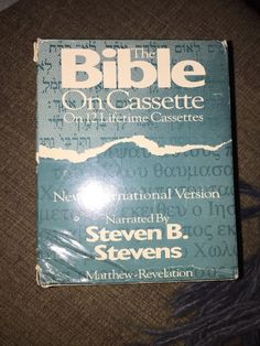 The Bible on Cassette NIV Audio Book Cassette Matthew -Revelation  | eBay