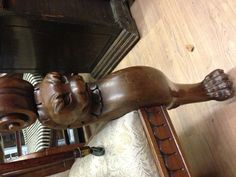 Absolutely love the detail of this Armchair leg.... So unusual!!  www.timmsantiques.com