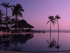 Purple sky in #ixtapa