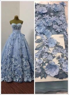 Items similar to Blue lace fabric, heavy embroidered tulle lace fabric, French lace fabric with flowers, bead lace fabric with florals, bridal lace on Etsy Gold Lace Fabric, Bridal Lace Fabric, Embroidered Lace Fabric, Tulle Lace, Fabric Flowers, Lace Dress, Lace Applique, Blue Fabric, Blue Flowers