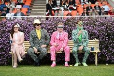 Melbourne, Australia Race goers watch the last race after the Geelong Cup at Geelong Racecourse