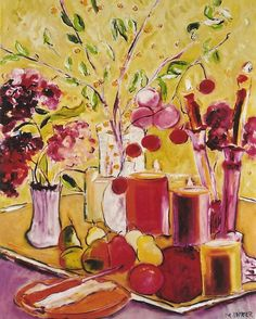 Floral with Pears and Candles 3'x3'.jpg (641×800)