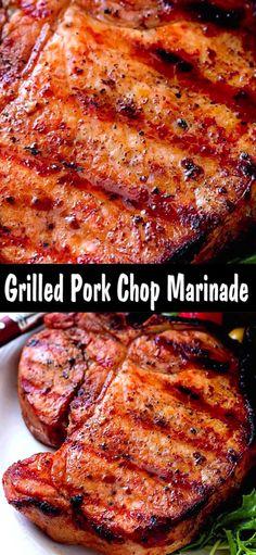 Smoked Pork Chops, Marinated Pork Chops, Honey Garlic Pork Chops, Juicy Pork Chops, Grilled Pork Chop Marinade, Marinade For Pork Chops, Barbeque Pork Chops, Pork Steaks, Bbq Ribs