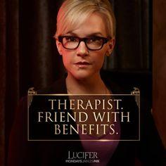 Rachael Harris as Linda Morris, therapist to the devil in Lucifer                                                                                                                                                                                 More
