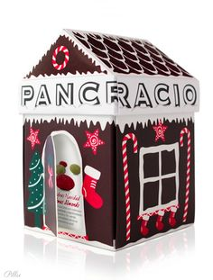 Pancracio- Christmas Chocolate Coverend Almonds. #packaging #chocolate #gingerbread PD