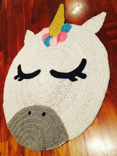 67 Ideas crochet kids blanket fabrics for 2019 Crochet Carpet, Crochet Home, Crochet Gifts, Crochet For Kids, Cute Crochet, Crochet Baby, Crochet Unicorn Blanket, Crochet Rugs, Crochet Projects