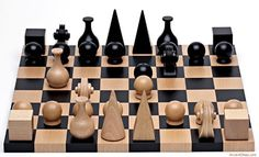 Wood Chess Set By Man Ray Reedition of 1920 * Read more reviews of the product by visiting the link on the image.