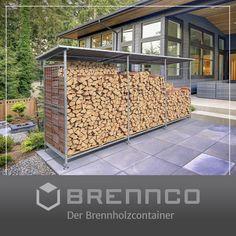 Modular erweiterbares System zur Lagerung von Brennholz. Garage Doors, Outdoor Decor, Home Decor, Firewood, Home And Garden, Homemade Home Decor, Decoration Home, Interior Decorating