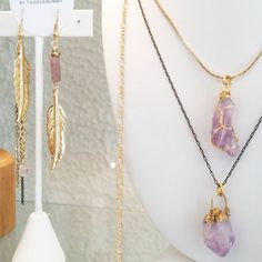Lots of new pretties have just arrived on commercial drive. Have been working this spring with some raw amethyst for all you February darlings 💜 Raw Amethyst, February, Commercial, Gold Necklace, Jewels, Spring, Pretty, Instagram Posts, Handmade