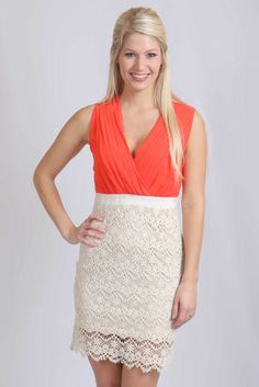 She Gets What She Wants Dress - Coral – The Palm Tree Boutique $48...FREE SHIPPING on orders over $50