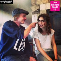 Lily Collins & Jamie Campbell Bower Confirm Relationship — Kiss In NewPhotos