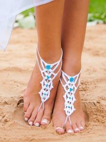 Beach wedding White Crochet Barefoot Sandals Nude shoes by barmine Barefoot Sandals Wedding, Crochet Barefoot Sandals, Wedding Shoes, Party Set, Nude Shoes, Beaded Anklets, Kinds Of Shoes, Bare Foot Sandals, Toe Rings