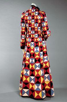The harlequin coat from Schiaparelli's Commedia dell'Arte collection in 1939.