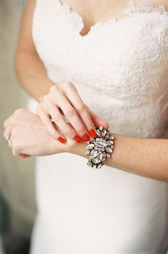 #bracelets  Photography: D\'Arcy Benincosa Photography - www.slcutahweddingphotography.com  Read More: http://www.stylemepretty.com/2014/03/04/coral-wedding-at-mountain-magnolia-inn/