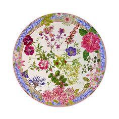 115.00$  Buy here - http://visuq.justgood.pw/vig/item.php?t=bsldohp27827 - Gien France Mille Fleur Cake Platter 115.00$
