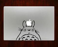 Totoro half body Macbook Decal Stickers