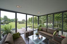 Extension Veranda, Outdoor Pool, Outdoor Decor, Outdoor Furniture Sets, Glass Walls, Windows, Patio, Architecture, Interior