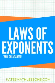Stuck on all the different rules for simplifying expressions with exponents? Learn how to use the Product Rule, Power Rule, Quotient Rule, and more with this online math course! You'll also learn how to simplify negative, zero, and fractional exponents with step-by-step directions. Don't miss the free cheat sheet!