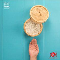 ¿Cuánto arroz hay en tu plato? Recuerda que la porción recomendada de cereales es un puñado. #Nutricion #Alalcancedetusmanos #NutriNestle
